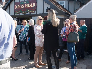 The Nags Head beer garden