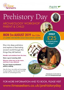This August, Prehistory Day in Chichester for parent and child partners!
