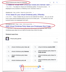 Reaching the #1 page on Google through SEO blog content